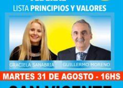 Guillermo Moreno llega a San Vicente