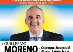 Vota Peronismo, Vota Guillermo Moreno Diputado Nacional
